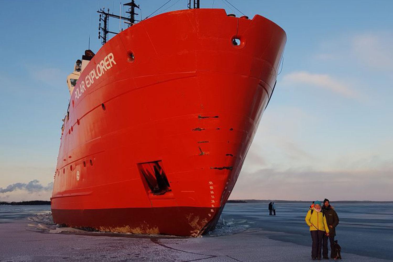 Zweeds Lapland ijsbreker