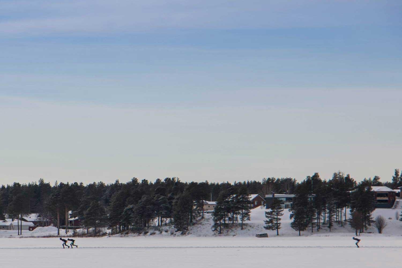Schaatsen in Zweeds Lapland
