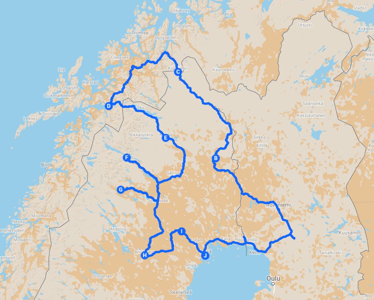 12D11N Routemap