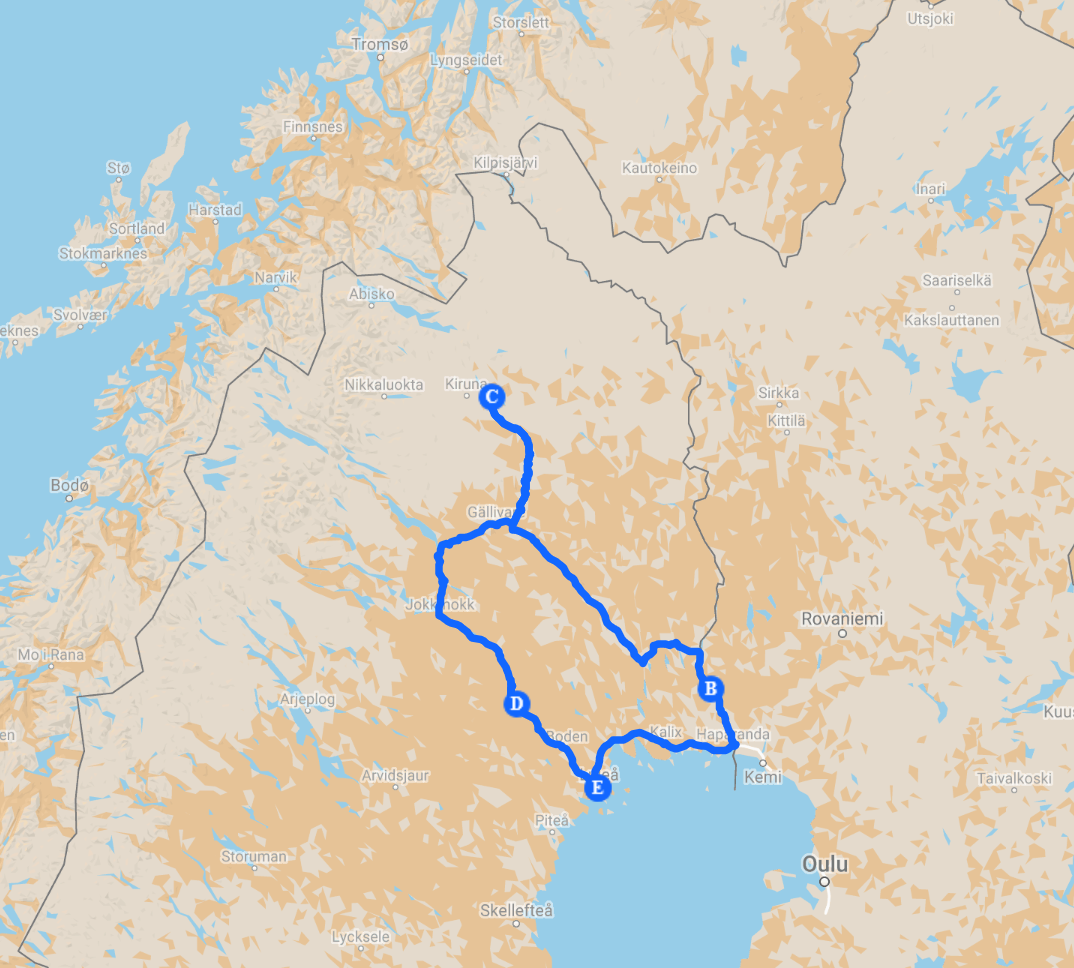 5D4N FD Route Map