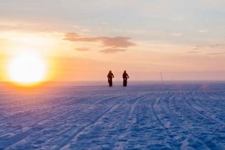 Luleå ice track - fatbiking