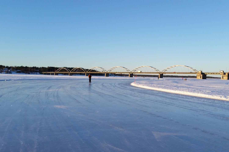 lulea ice track kicksled