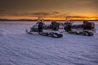 snowmobile group tours lulea