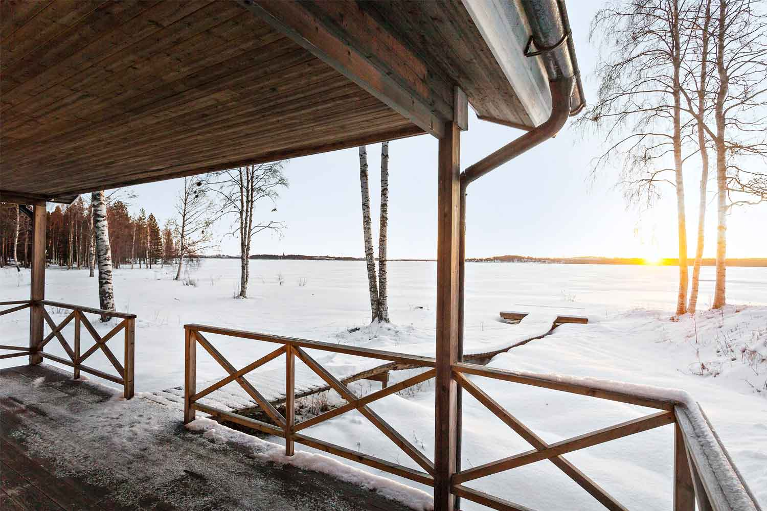 winter lulea cabin