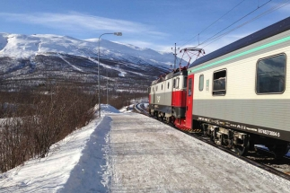 Swedish train-Luleå-Abisko