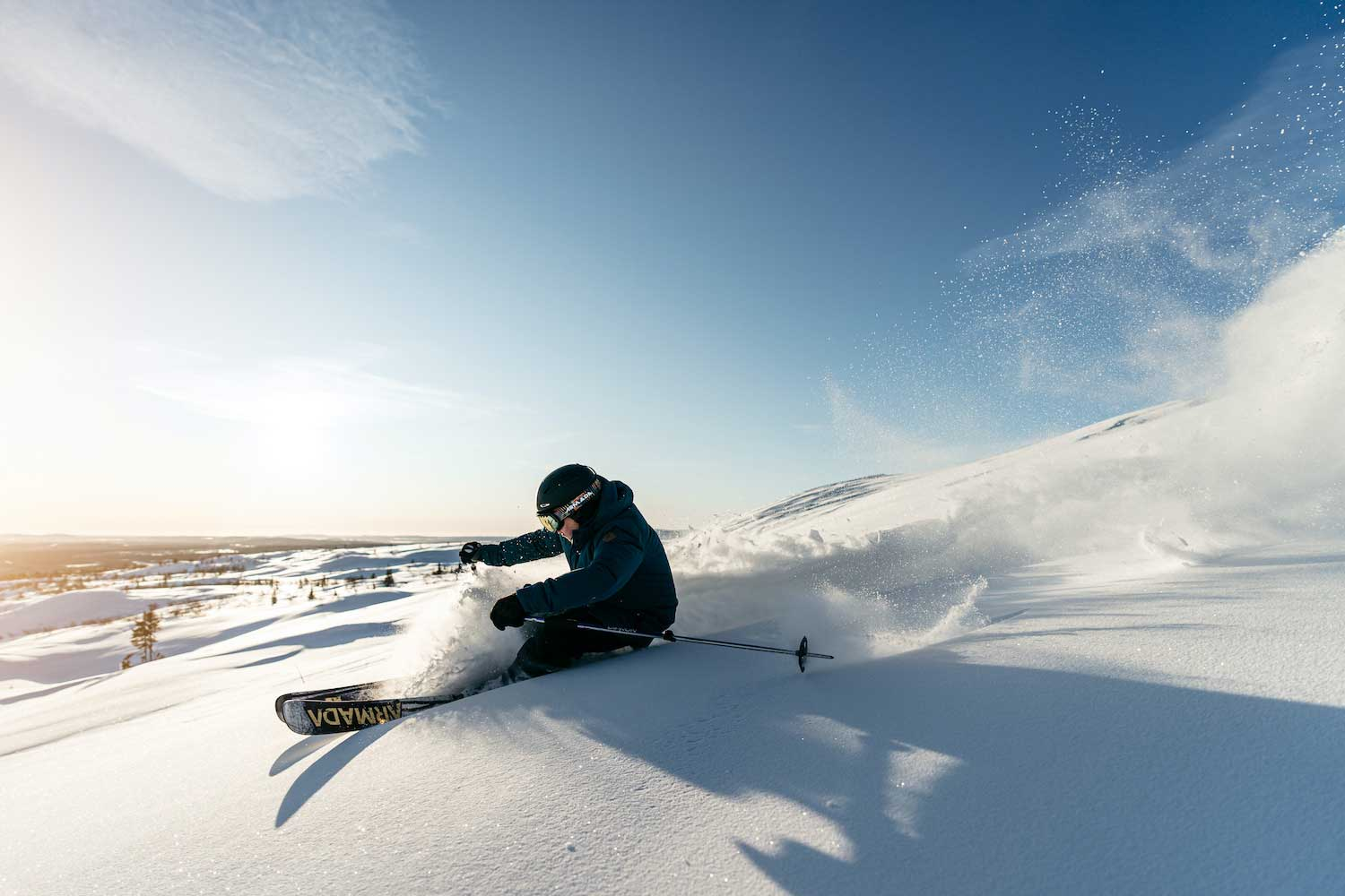 Skiing-Dundret-Lapland