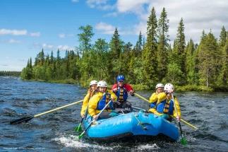 ICEHOTEL Summer Activities. Torne River Rafting