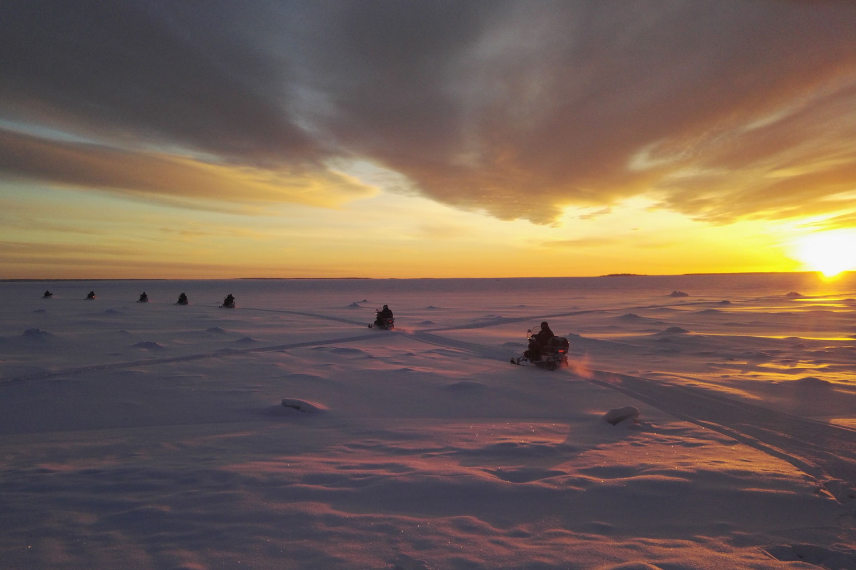 snowmobile tour Luleå archipelago